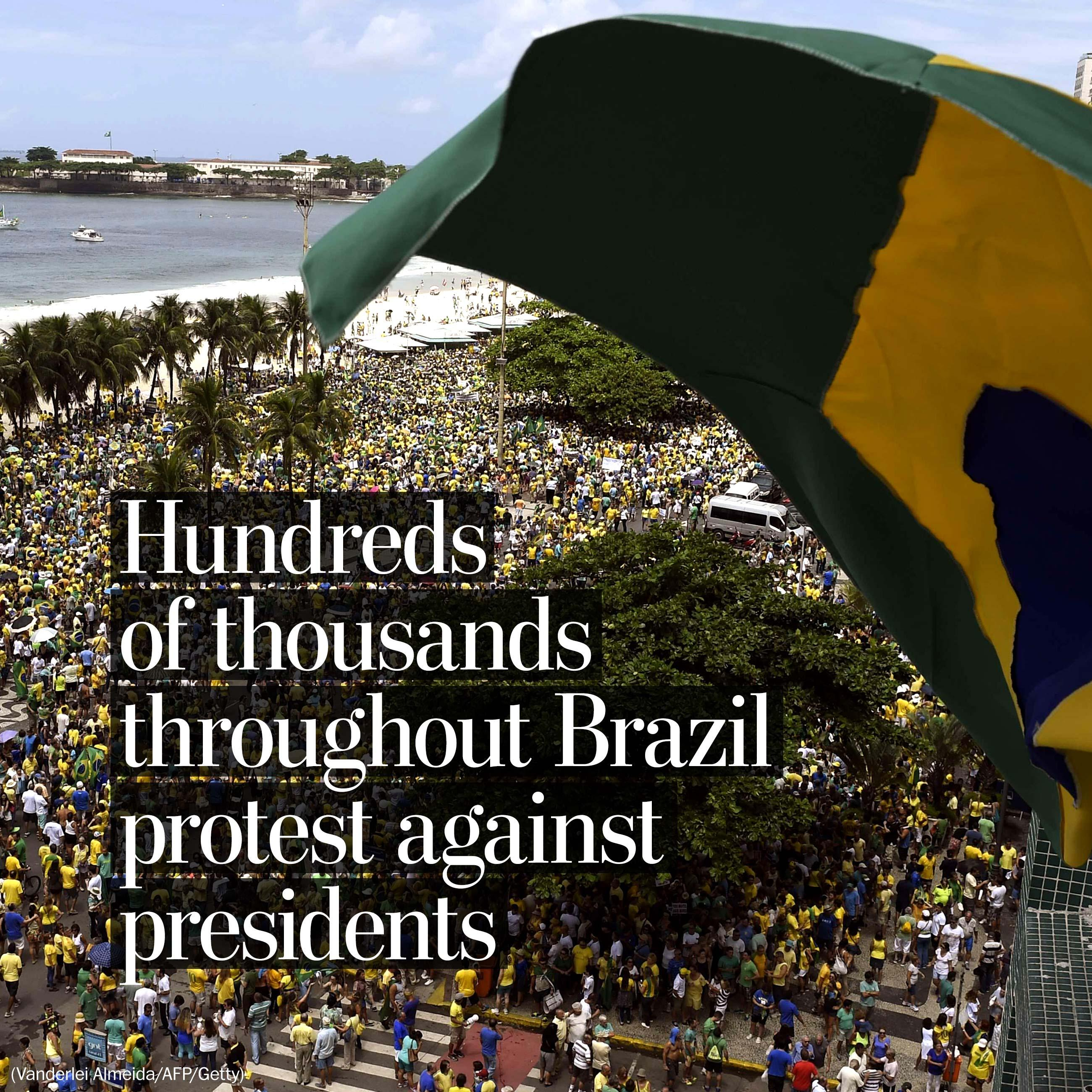 Hundreds of thousands protest throughout Brazil