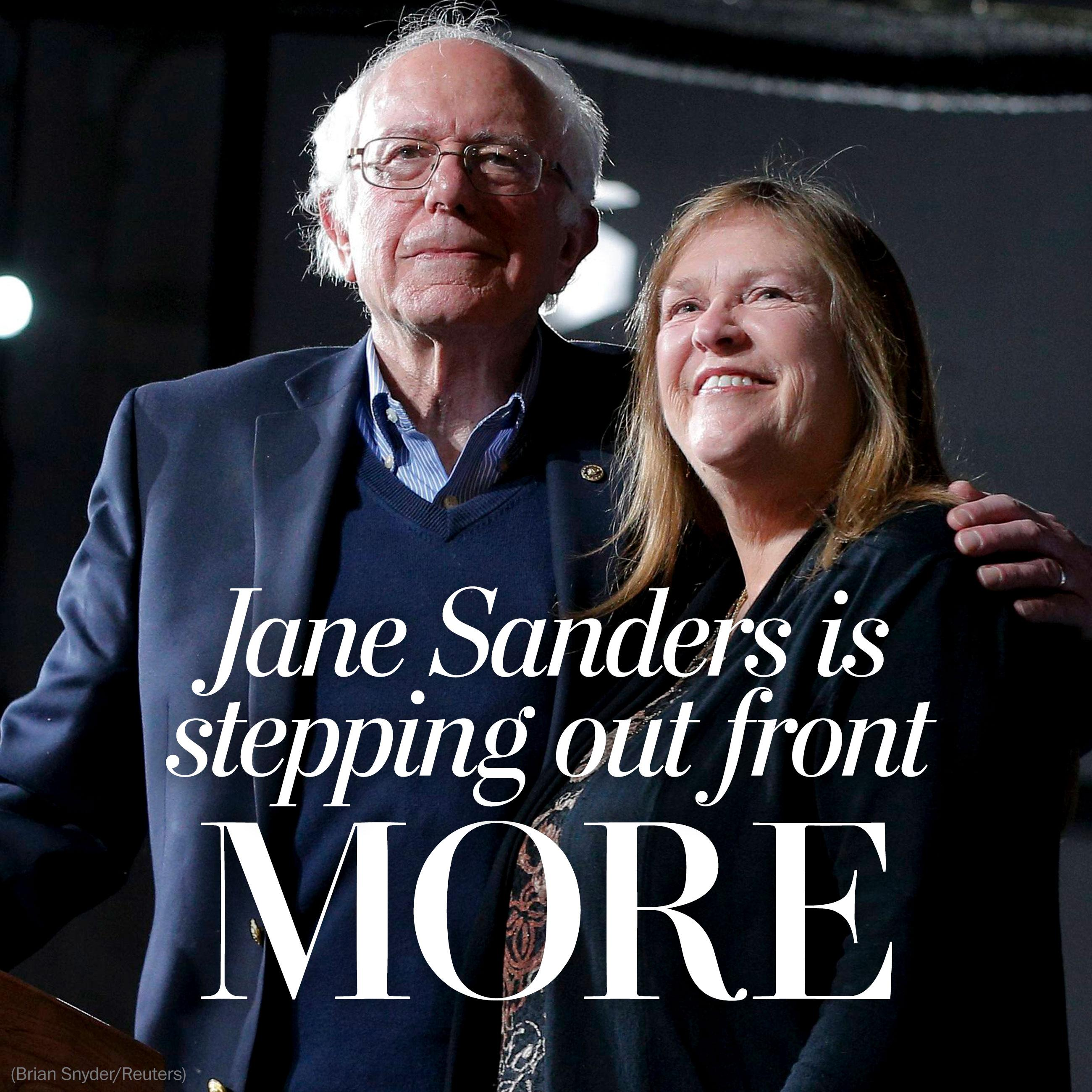 For Jane Sanders, a more visible role on the presidential campaign trail