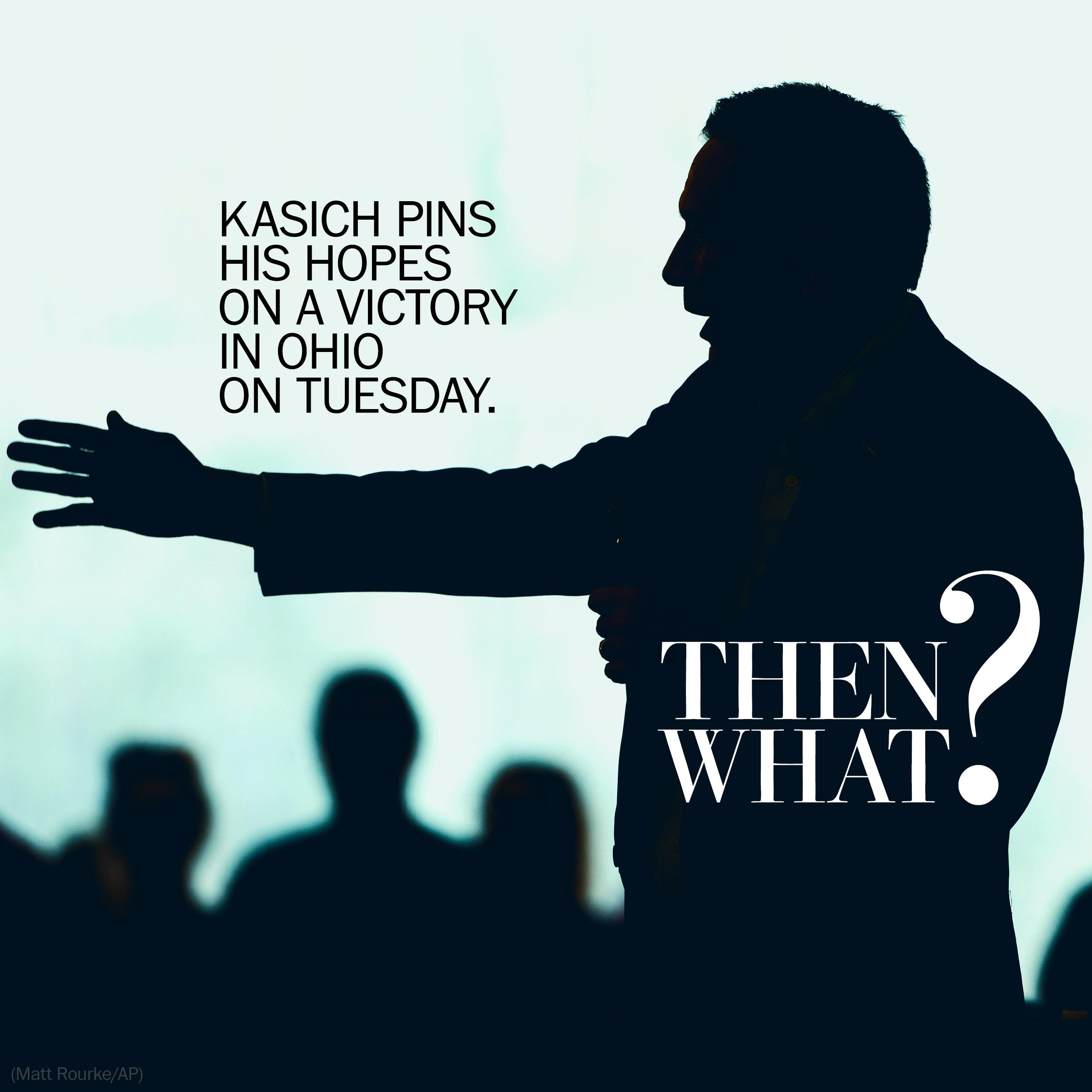 Kasich pins hopes on Ohio victory Tuesday. Then what?