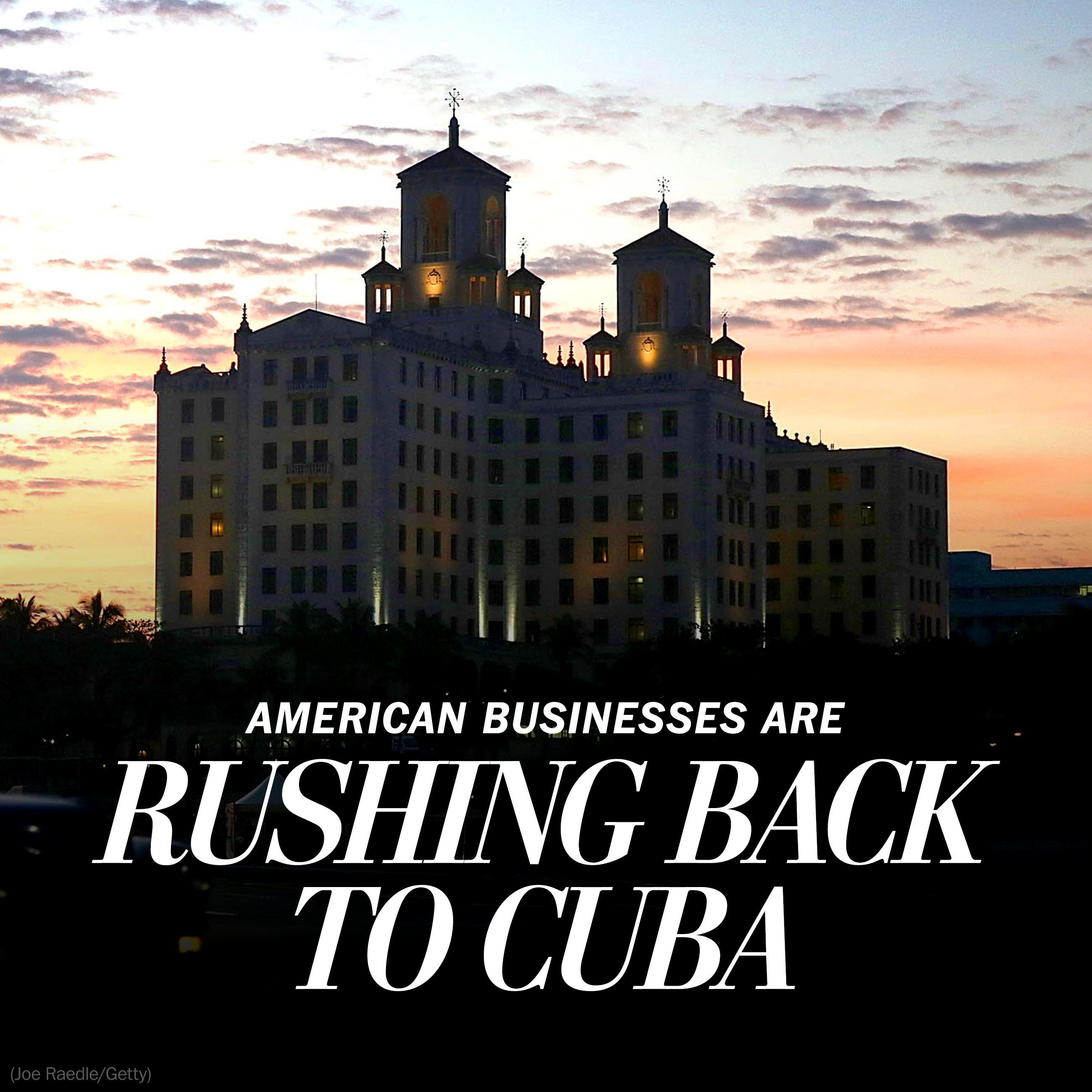 Obama's visit comes as American businesses are rushing back to Cuba