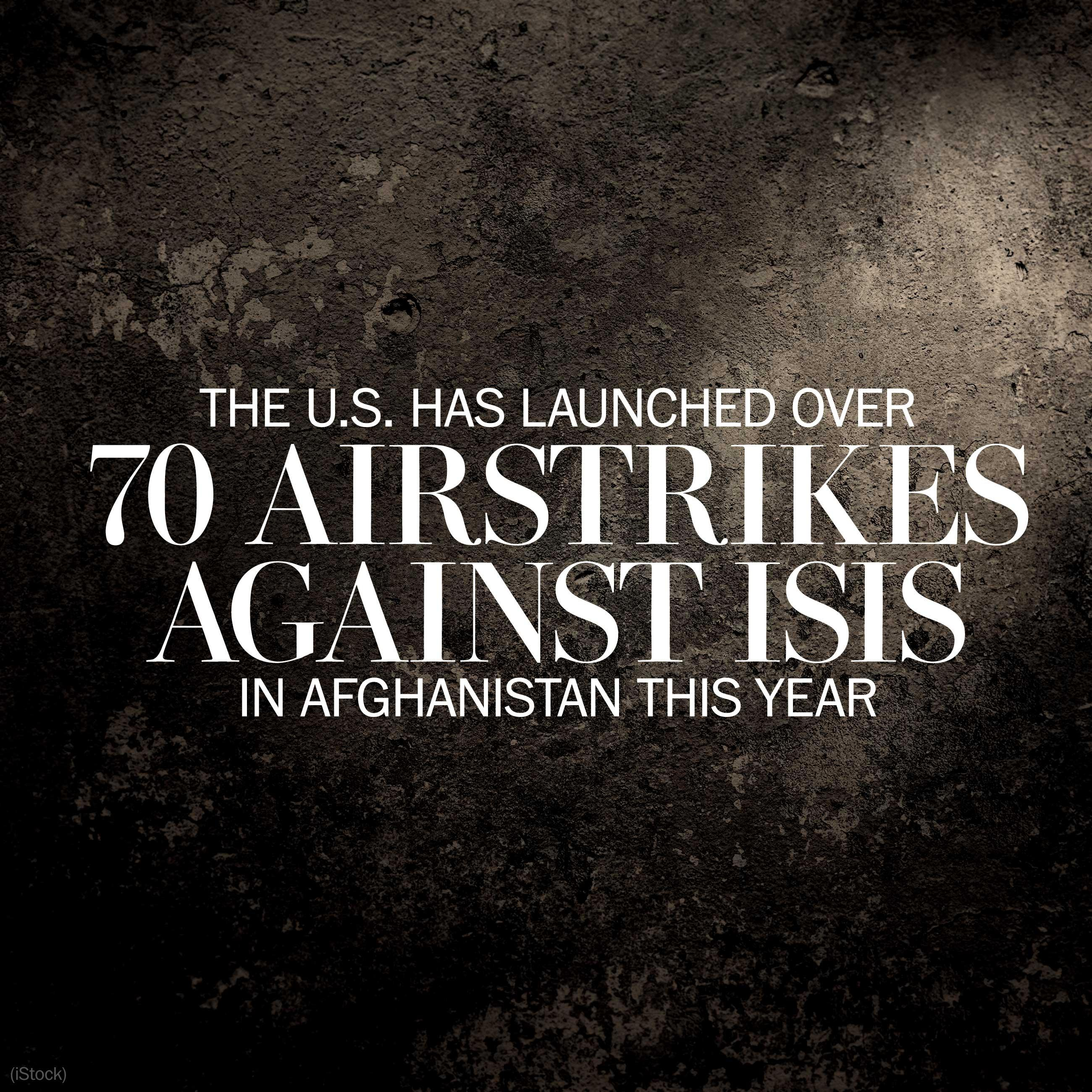 The U.S. has launched more than 70 airstrikes this year against ISIS in Afghanistan