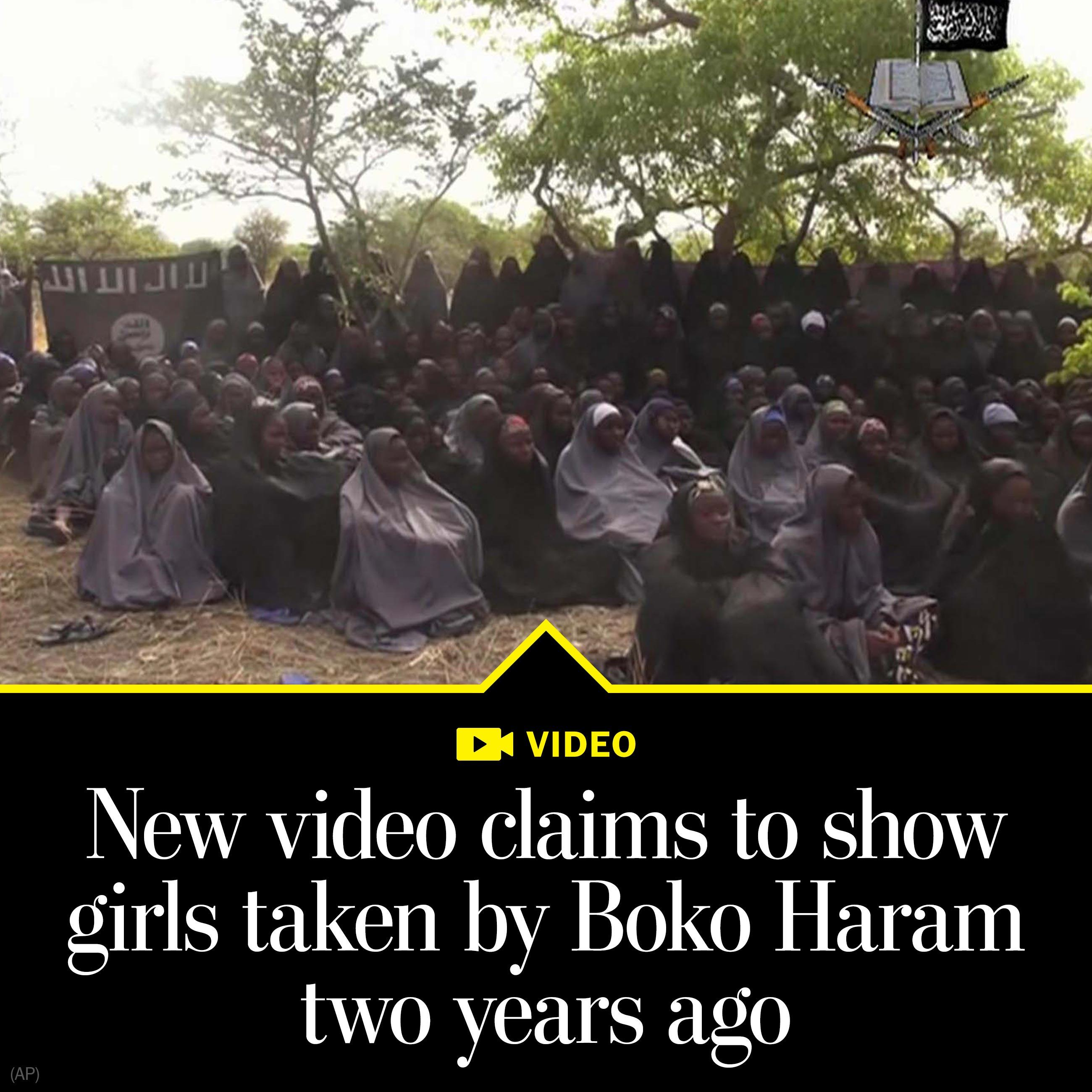 Video claims to show Nigerian girls kidnapped by militants two years ago