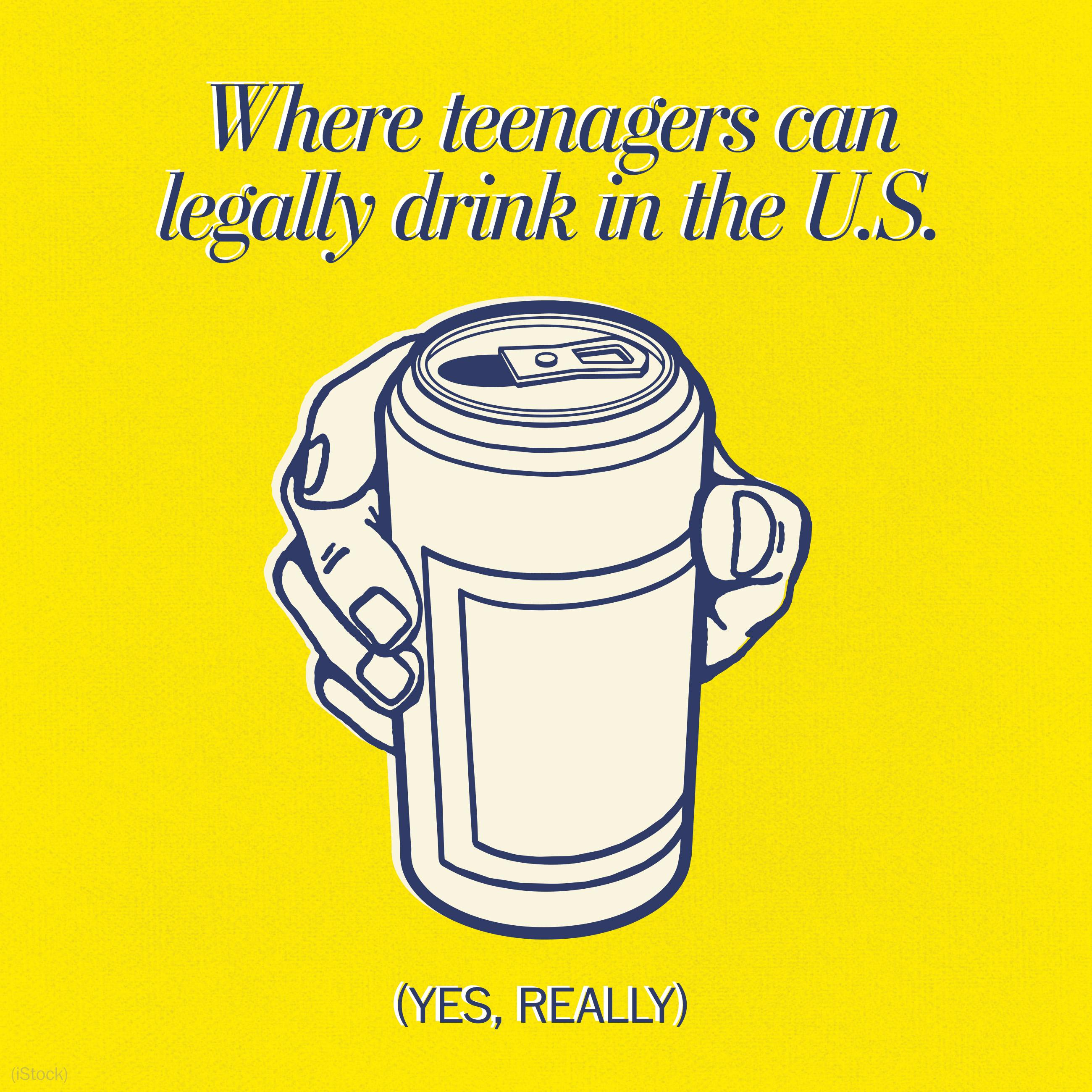 Where teenagers can legally drink in the U.S. (yes, really)