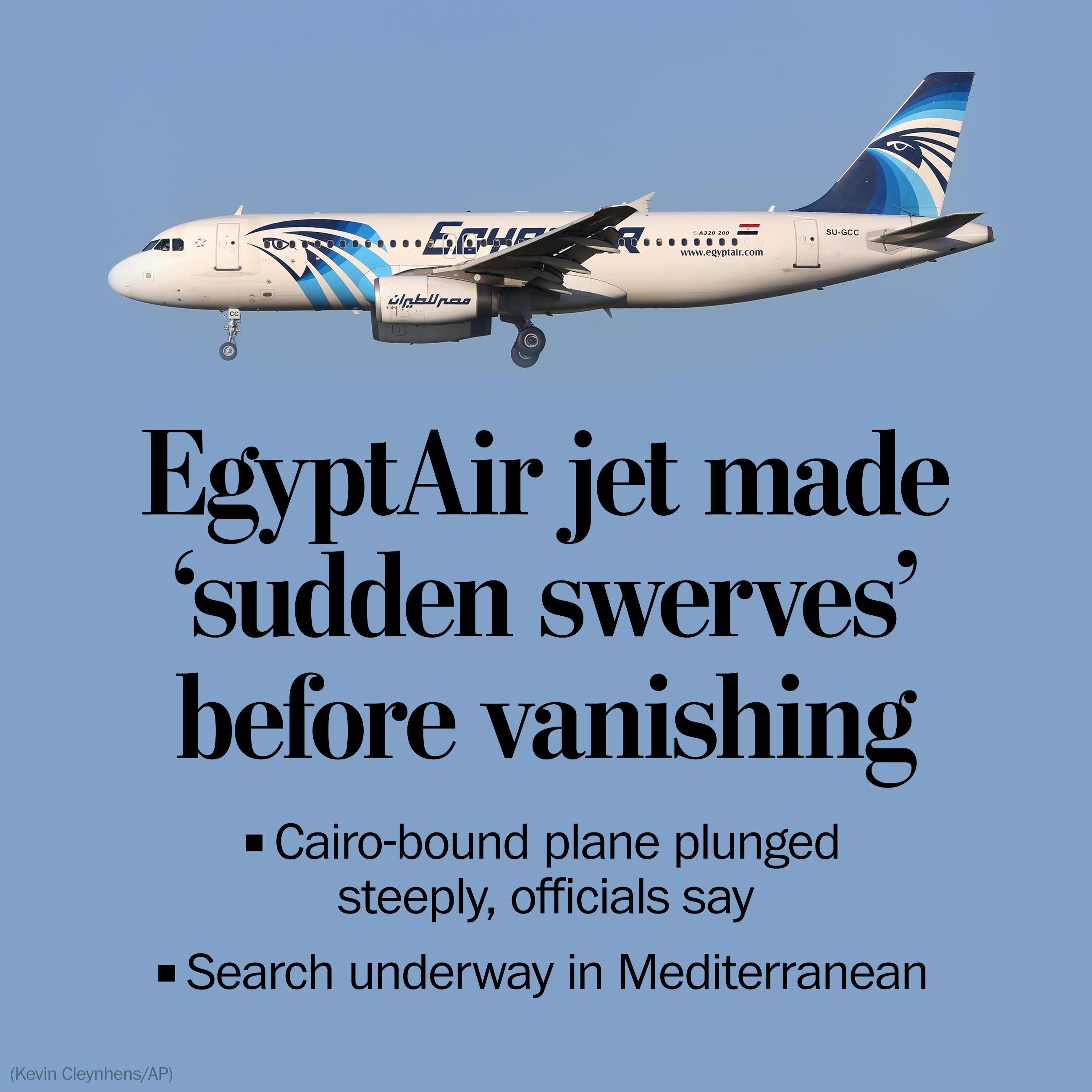 EgyptAir flight from Paris to Cairo vanishes over sea; Investigators 'rule out' nothing