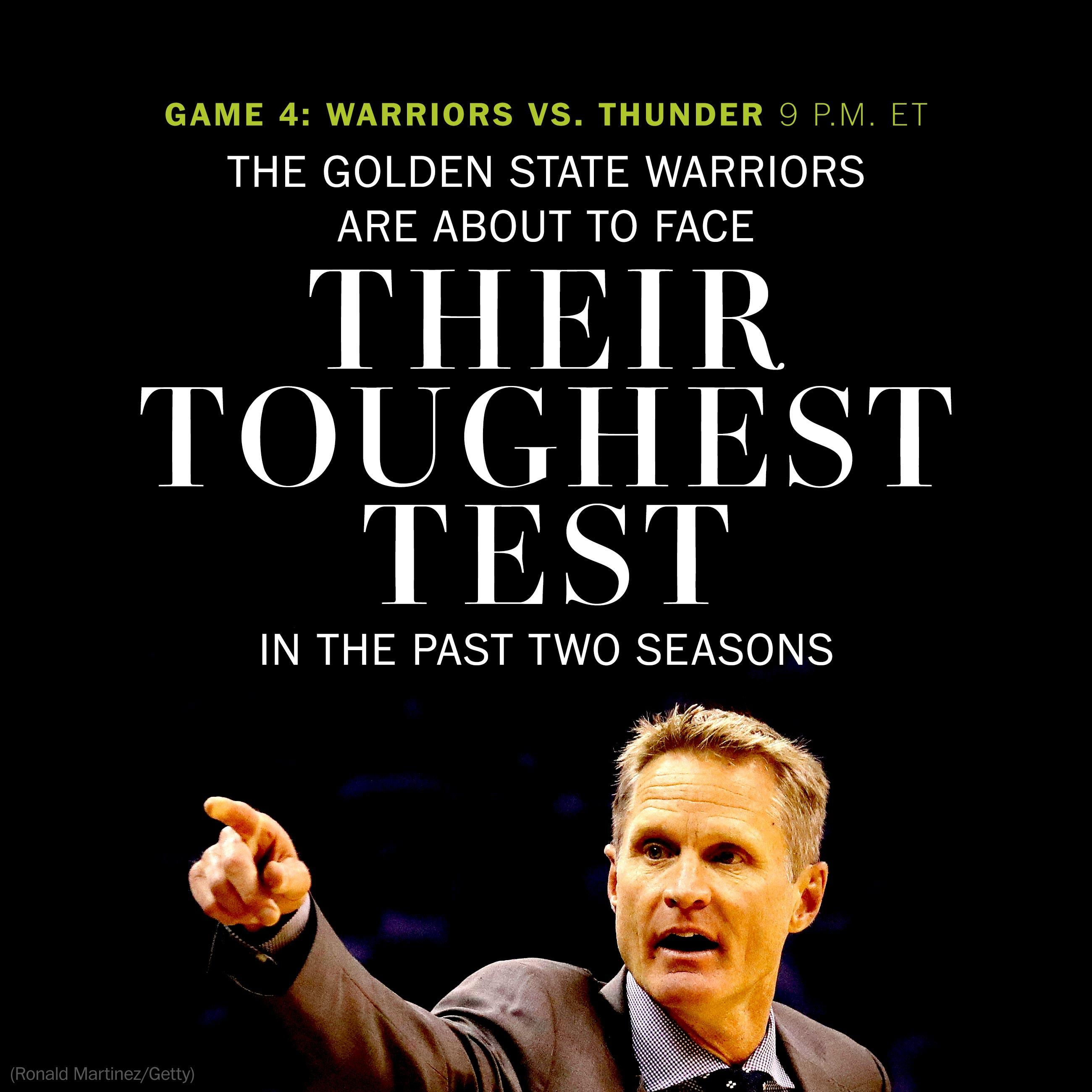 The Golden State Warriors are about to face their toughest test in the past two seasons