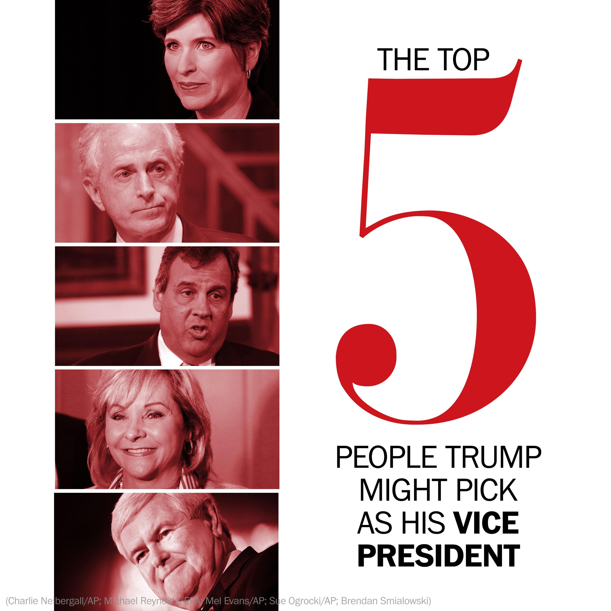 The top 5 people Donald Trump might pick as his vice president
