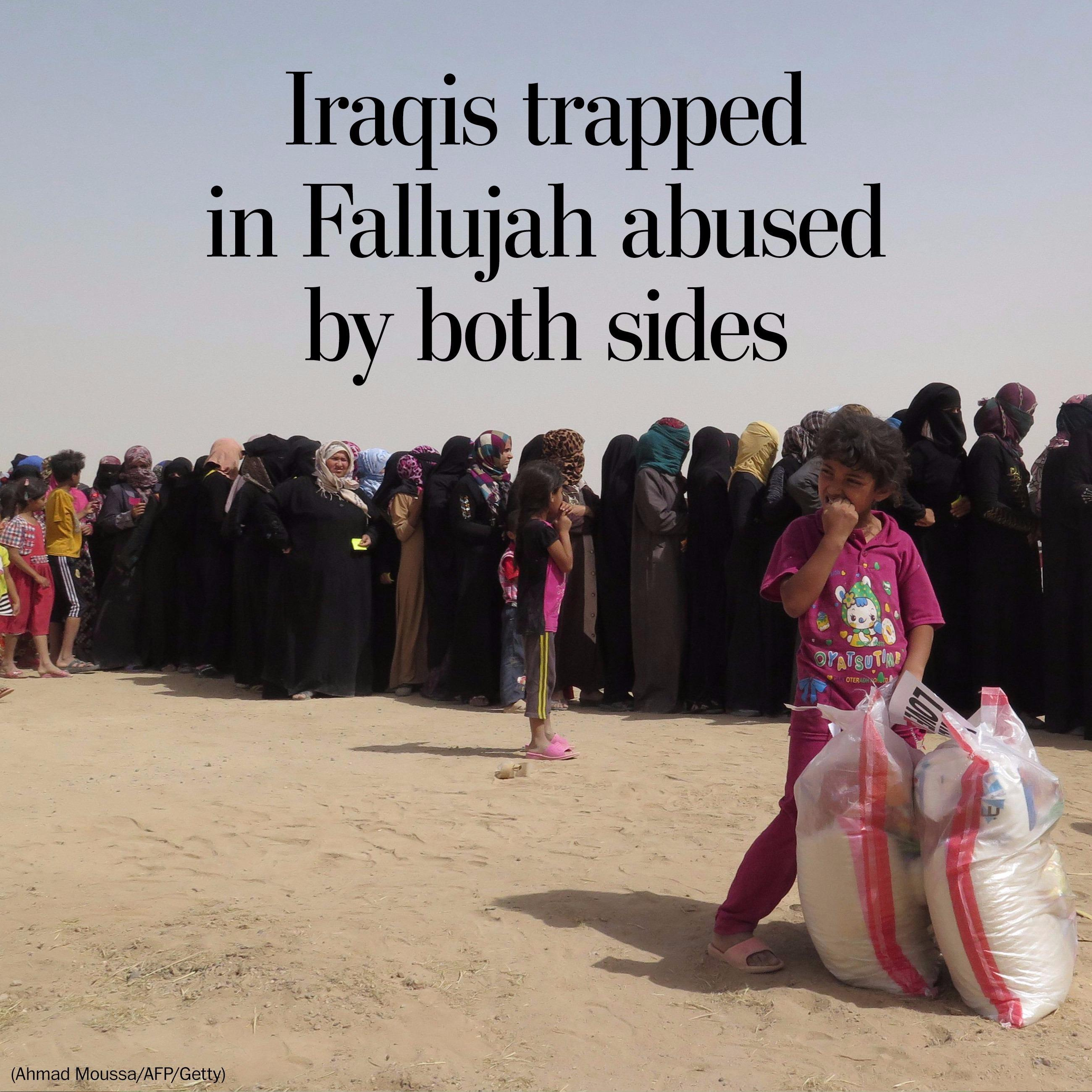 Iraqis in Fallujah caught in perils between Islamic State and militia fighters