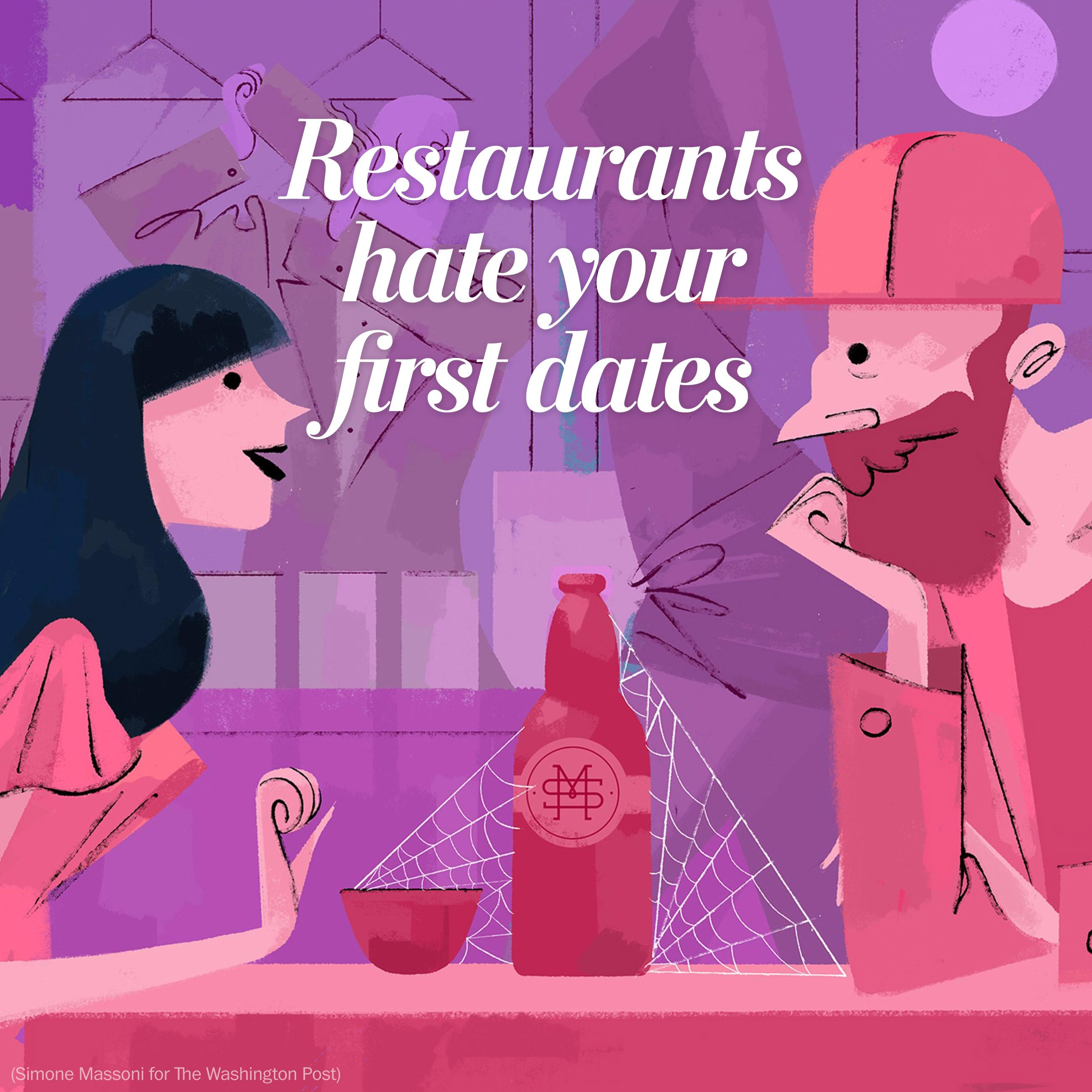 Your romantic first dates? Restaurants hate them.