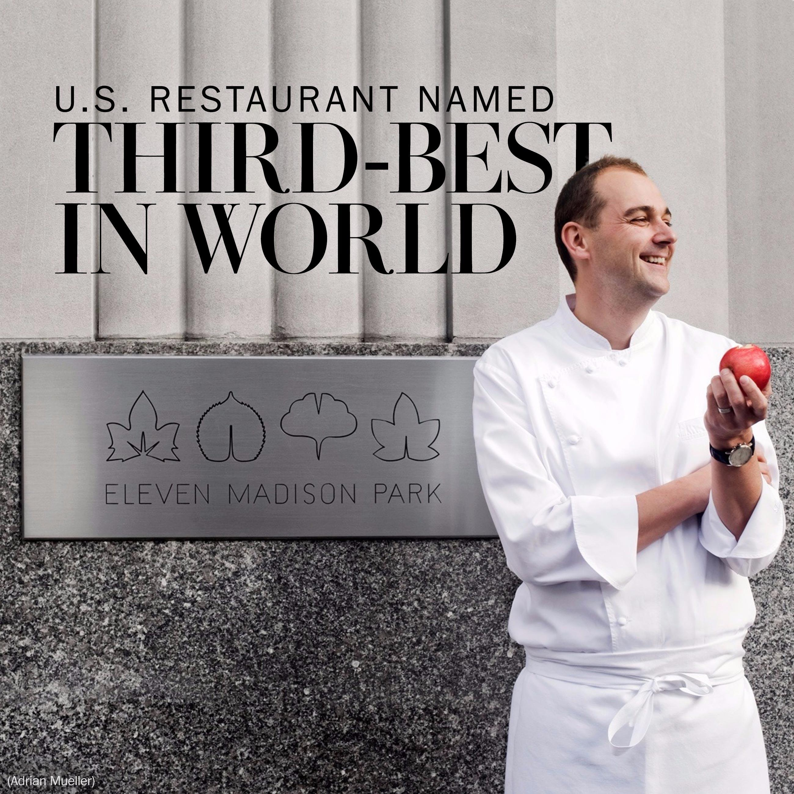 A U.S. restaurant is No. 3 on the 2016 World's 50 Best Restaurants list