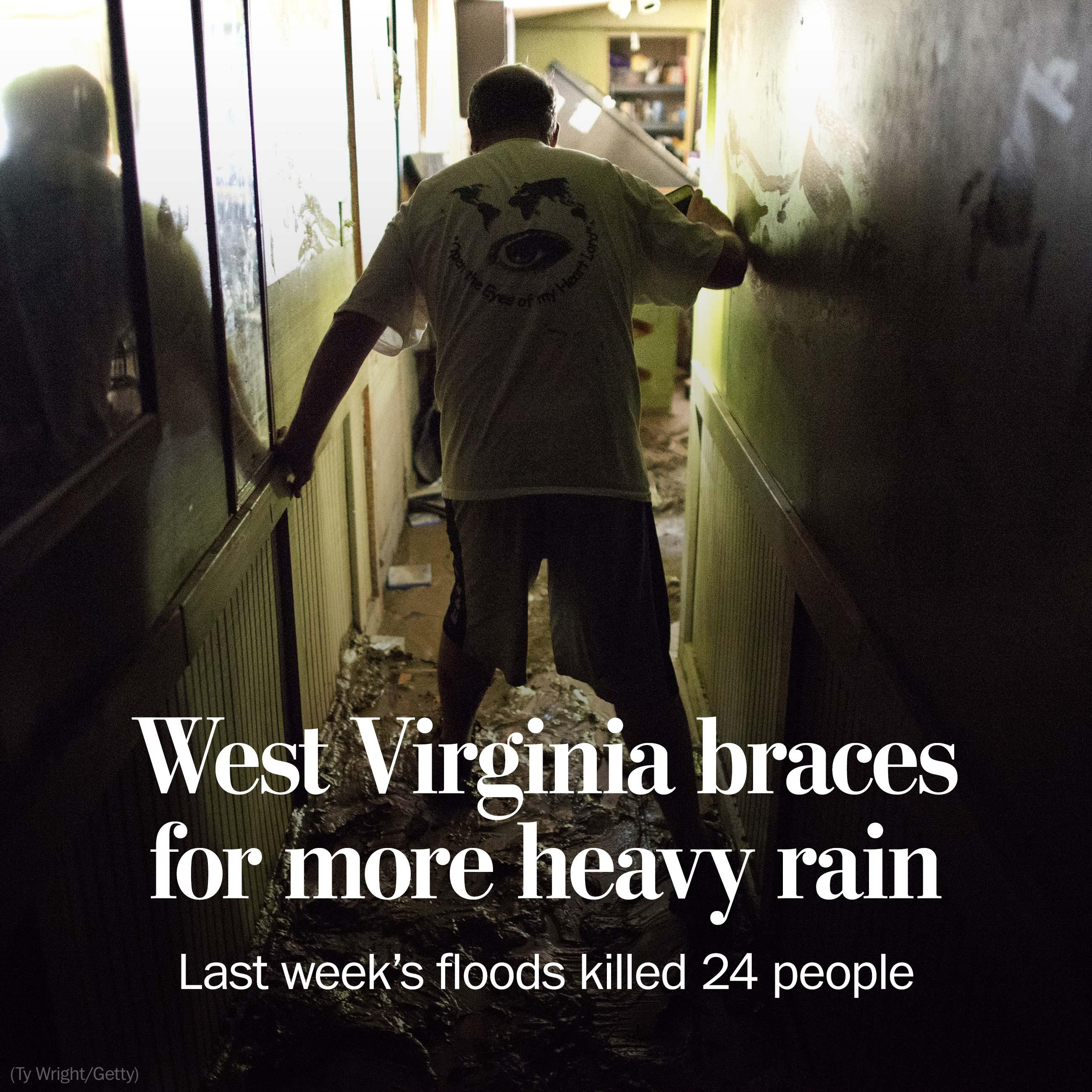 Rain-weary West Virginia braces for more of the same