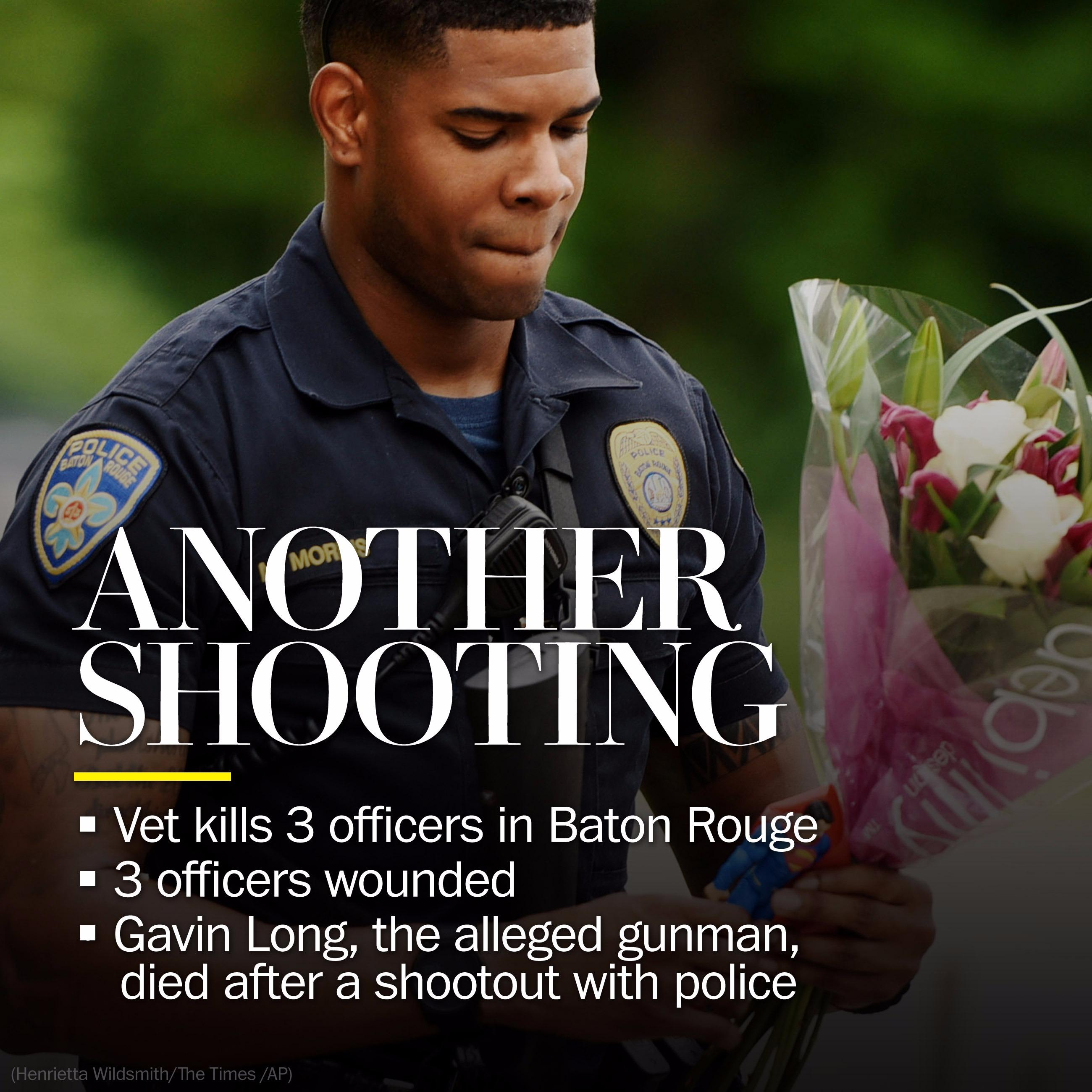 3 police officers killed, 3 wounded in Baton Rouge