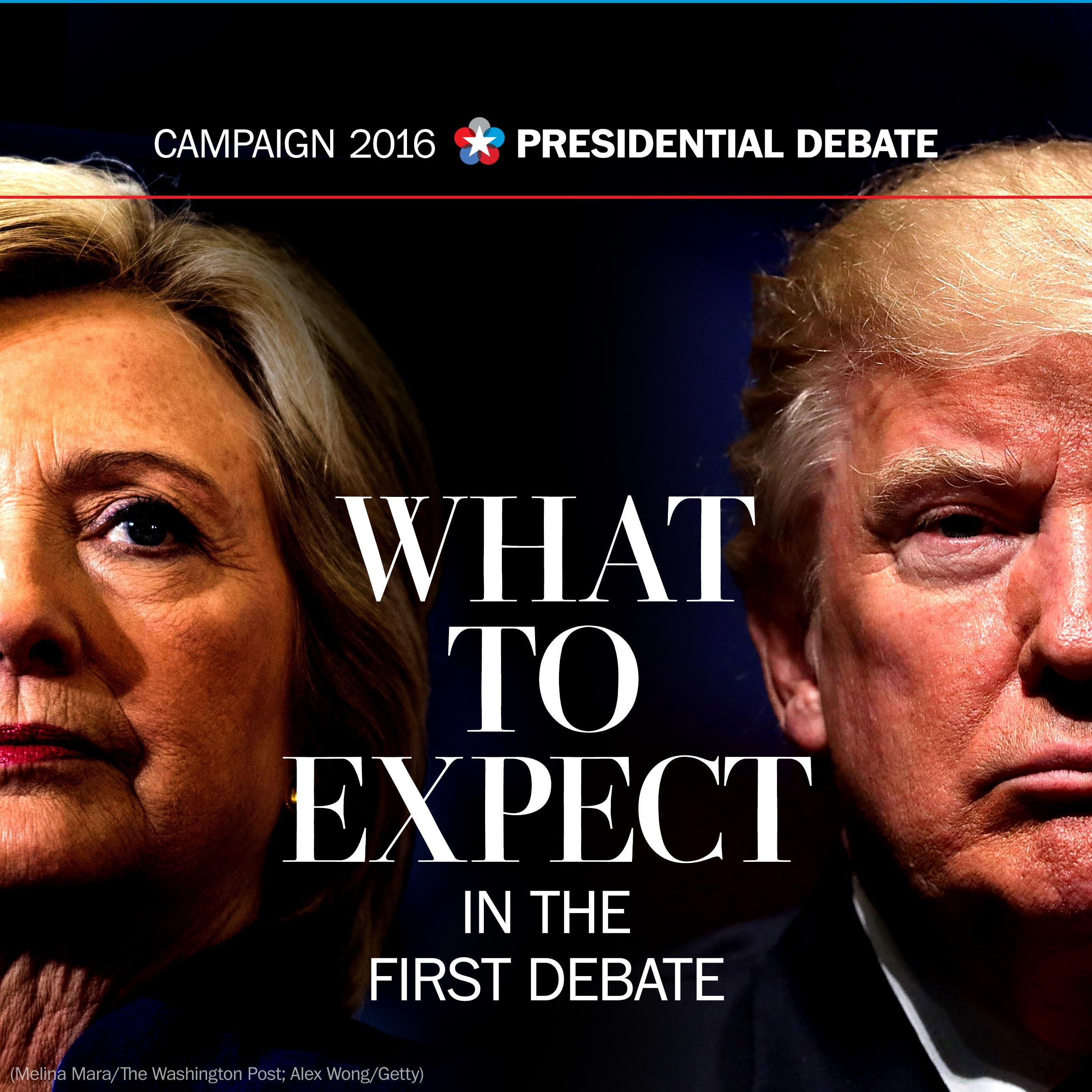 What can we expect from Clinton and Trump in the debate?